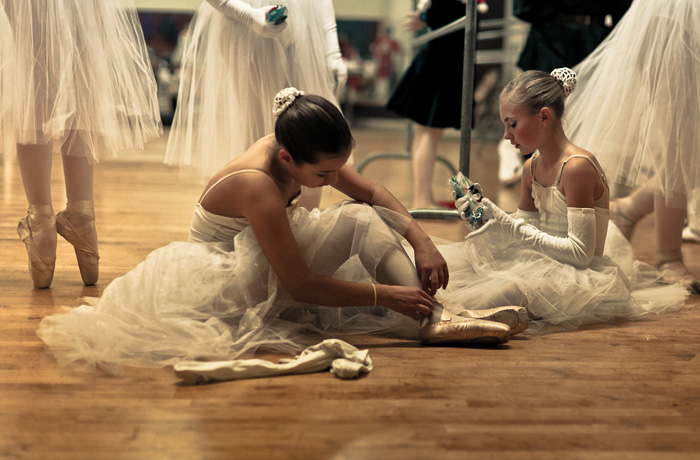 Ballerina Adjusting Her Slipper 2