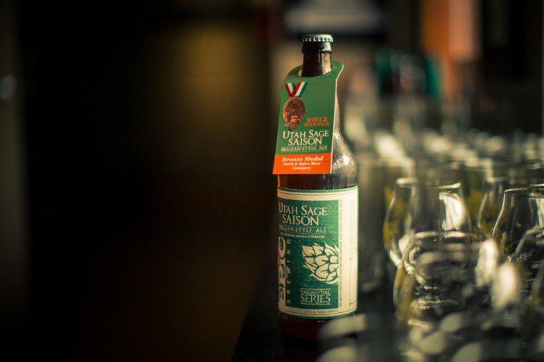 The Utah Sage Saison, a Belgian-style ale
