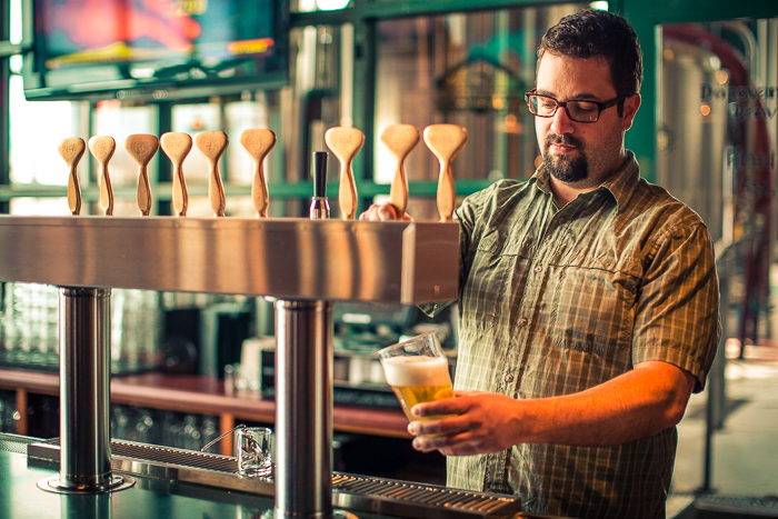 Head Brewer Donovan Steele of Hoppers Grill & Brewing Company