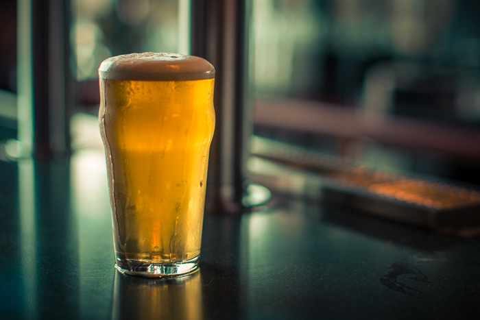 "A cold glass of ""This is the Pilsner,"" a classic Bohemian-style pilsner made of 100% German malts"