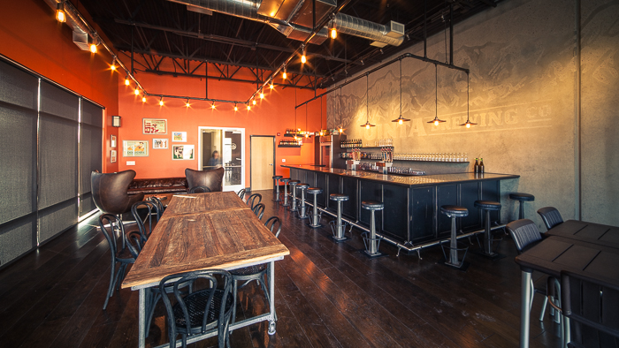 The spacious and modern corporate tasting room is just a walk from the brewery where employees can relax and mingle